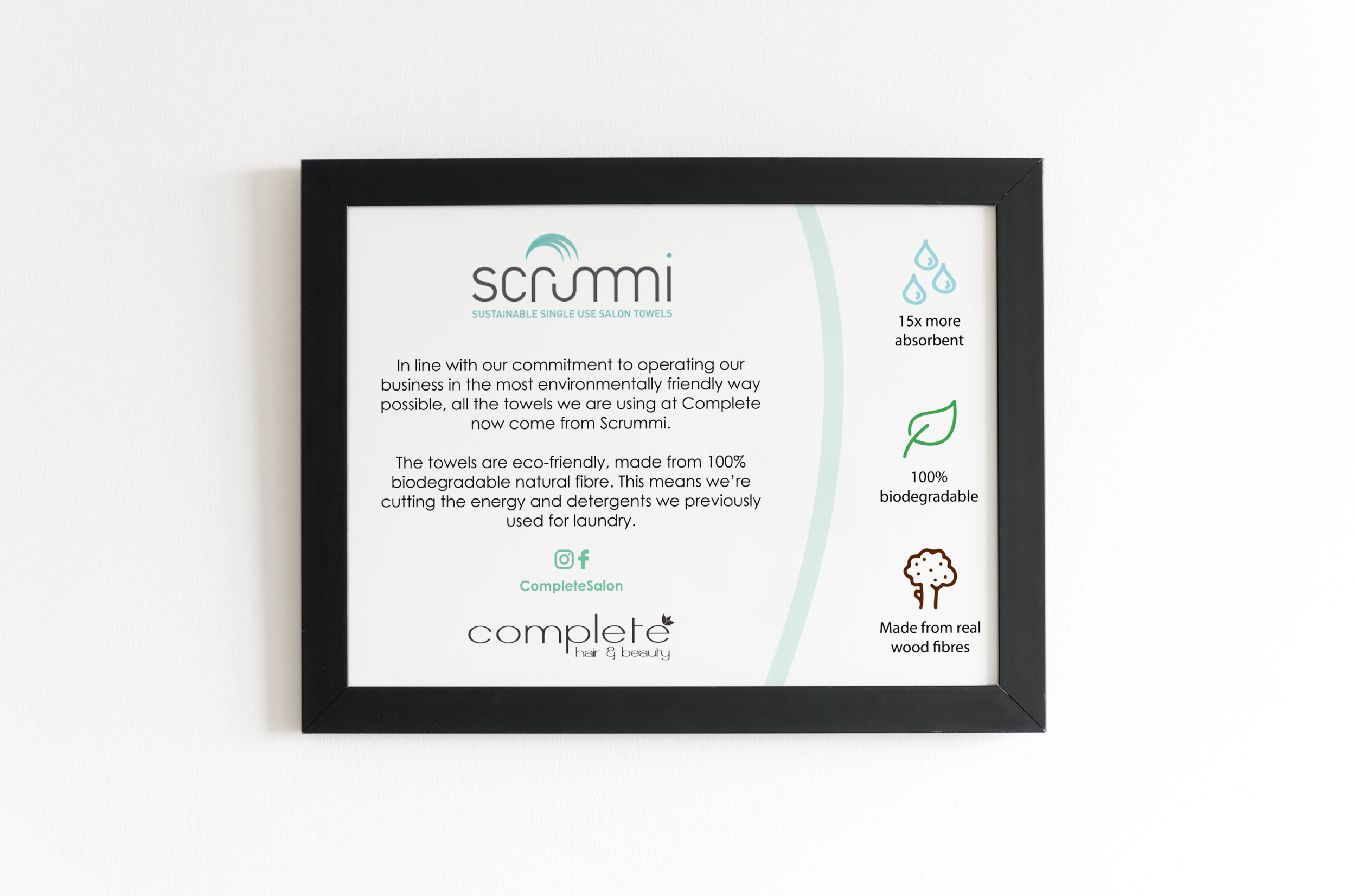 Scrummi products information poster