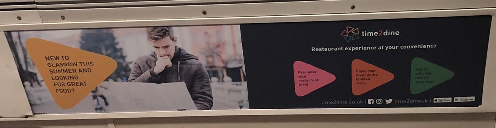 Glasgow Subway advertisement