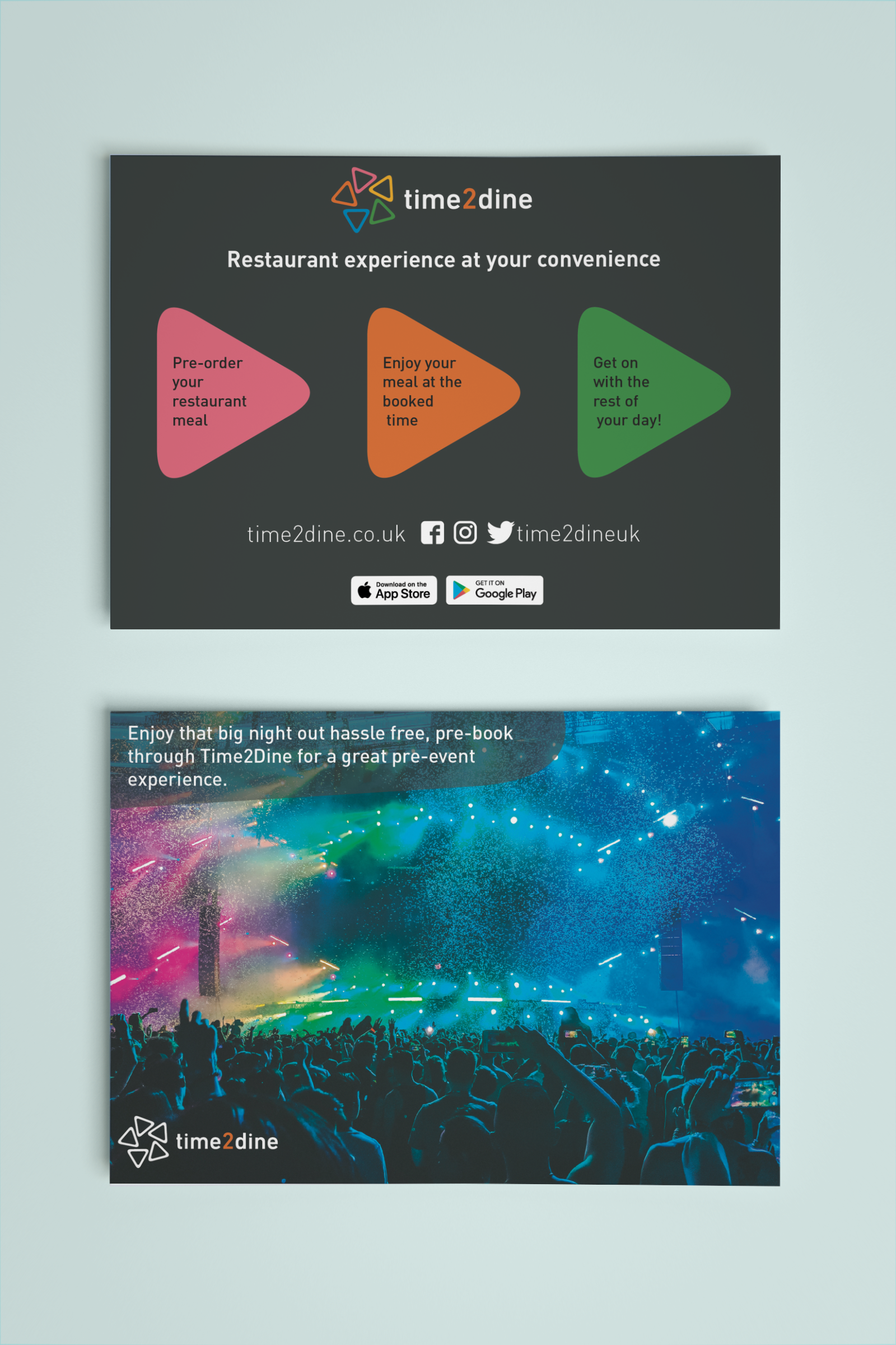 Promotional cards for customers