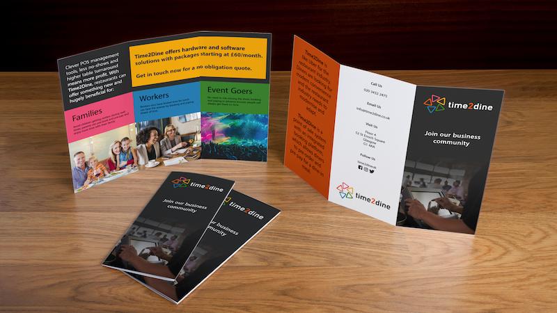 Promotional leaflets for restaurants
