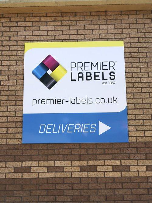 Premier Labels deliveries sign