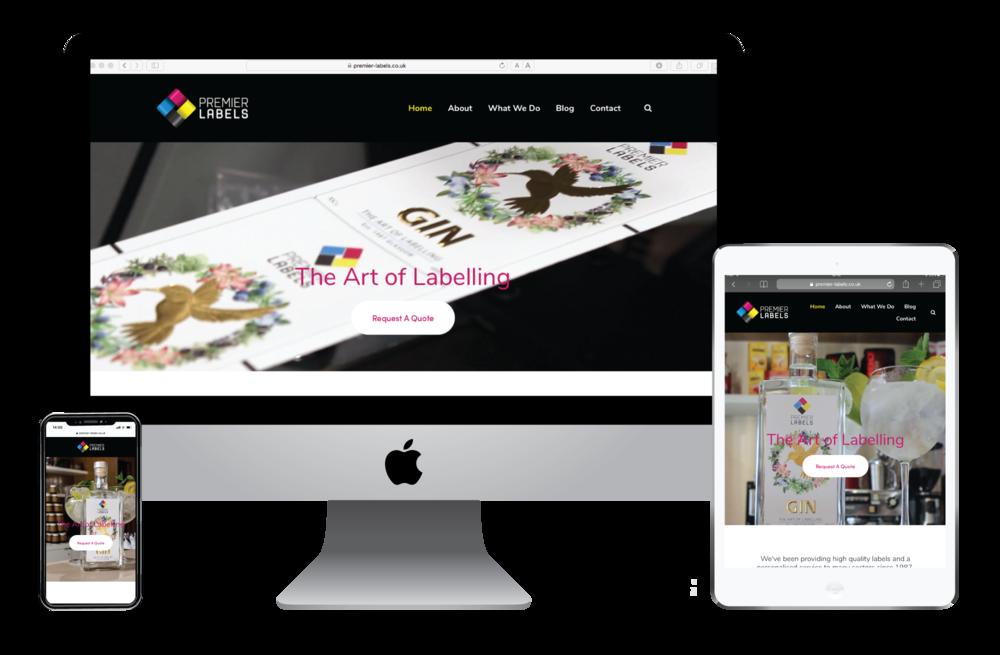 Premier Labels website