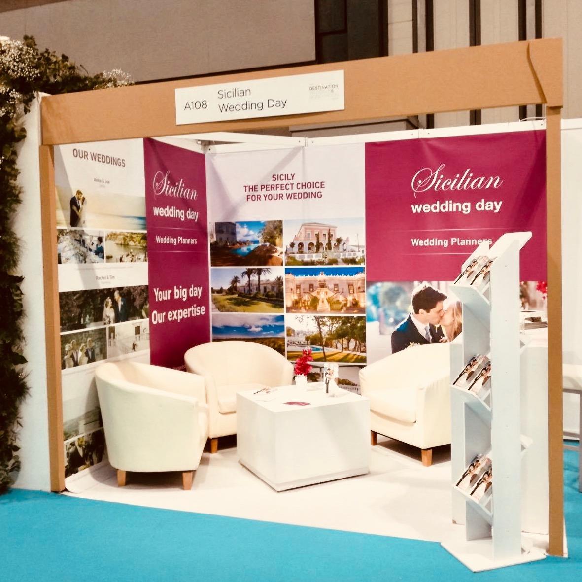 Sicilian Wedding Day exhibition stand