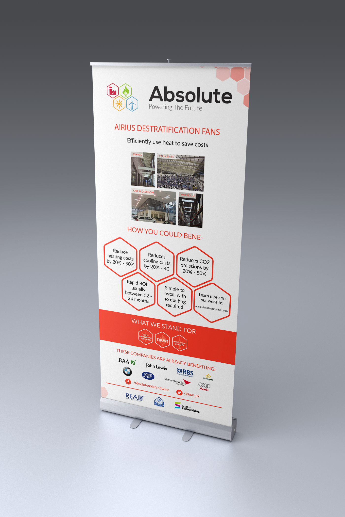 Absolute Solar and Wind roller banner