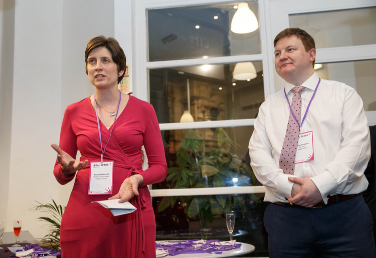 Legal Spark launch event photography Alison Thewliss MP