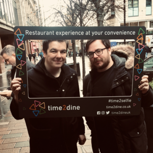 New Time2Dine selfie frame