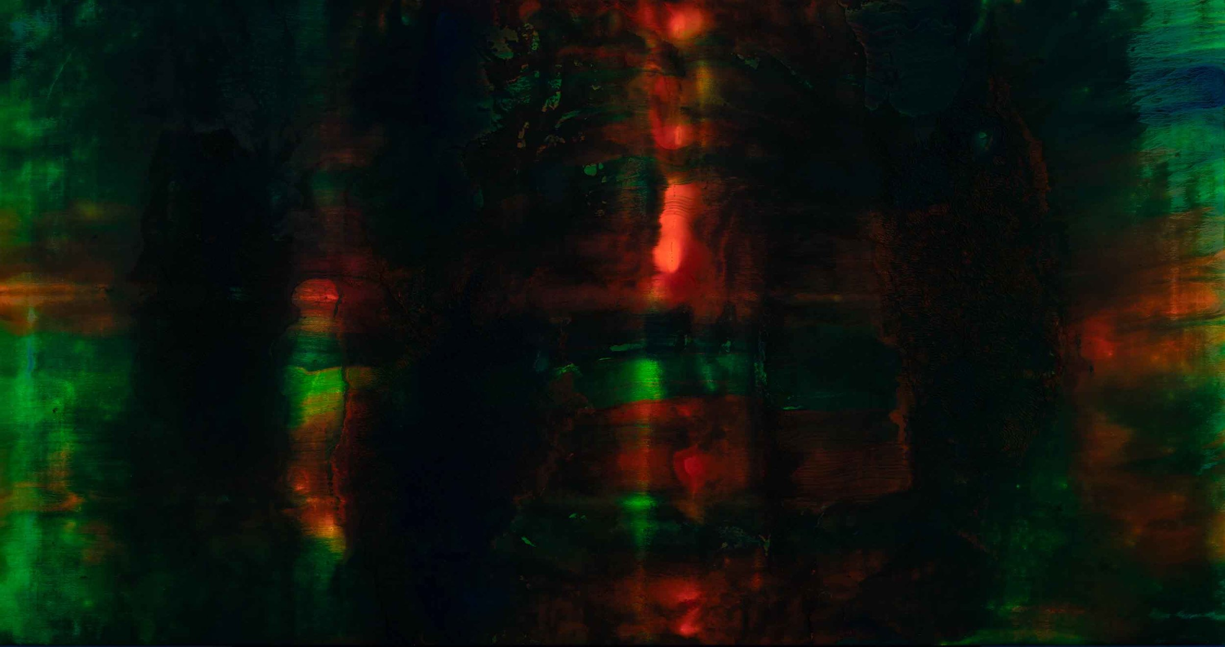 CODE UVS #8  2017 /105X200 cm  UV LIGHT exposure