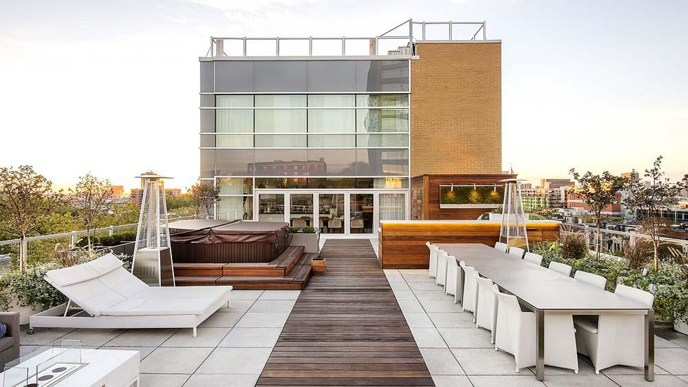Open Air Rooftop Terrace