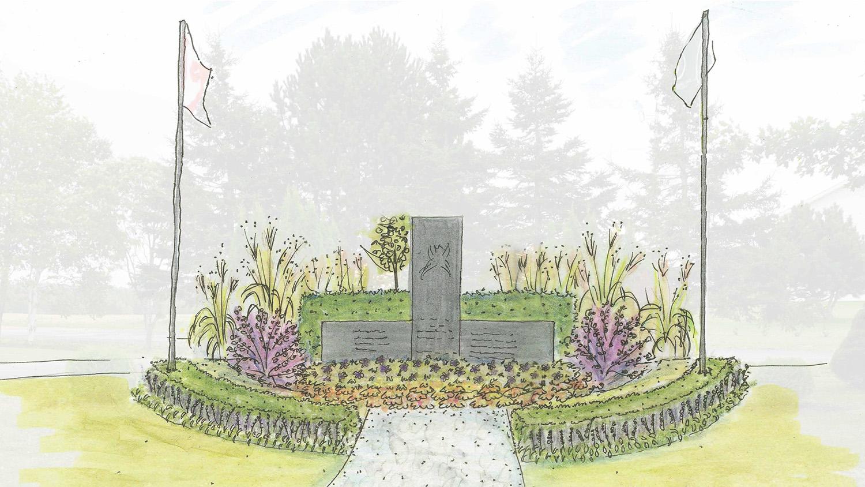 Quick vignette sketch of proposed planting