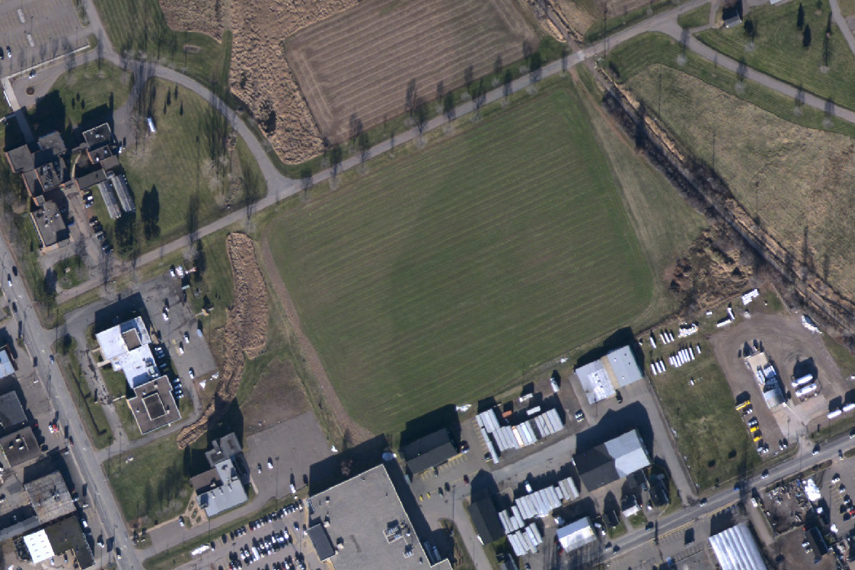 Aerial view of existing site, circa 2013