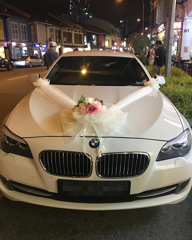 bmw 5 series wedding car
