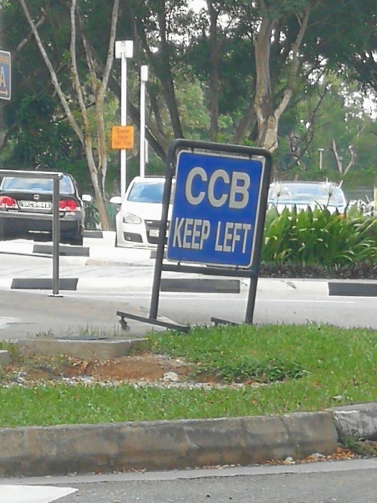 ccb keep left