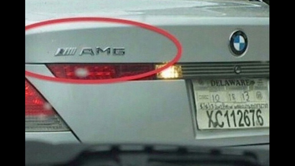 BMW 7 series with AMG badge