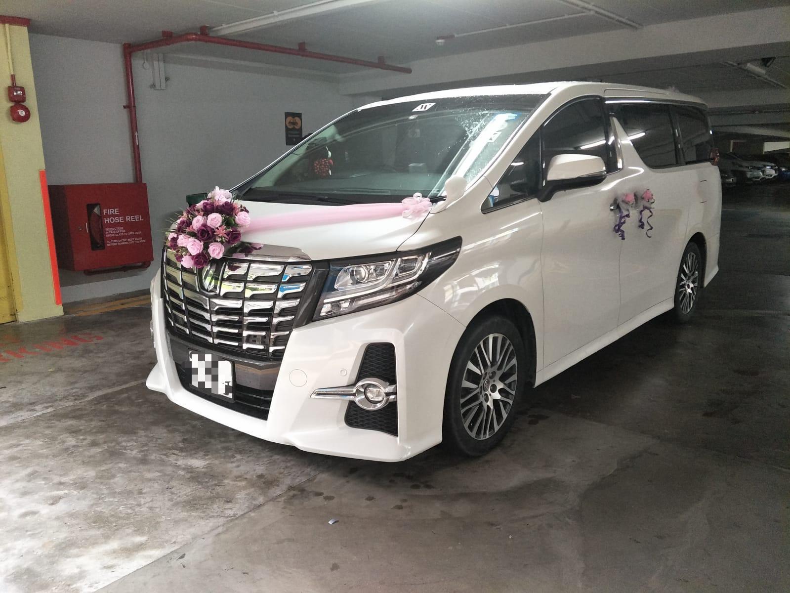 toyota Alphard wedding car