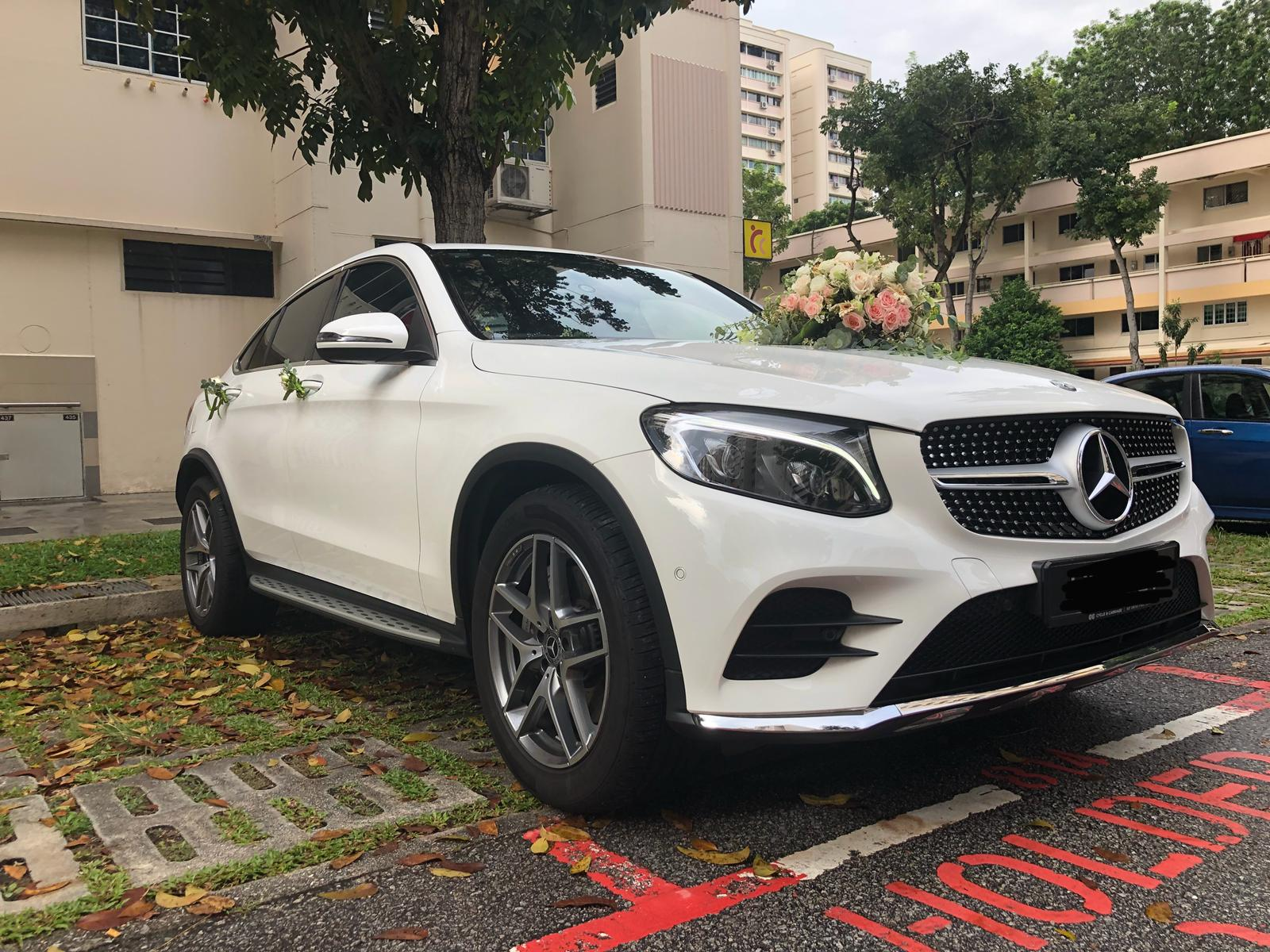 mercedes GLC wedding car