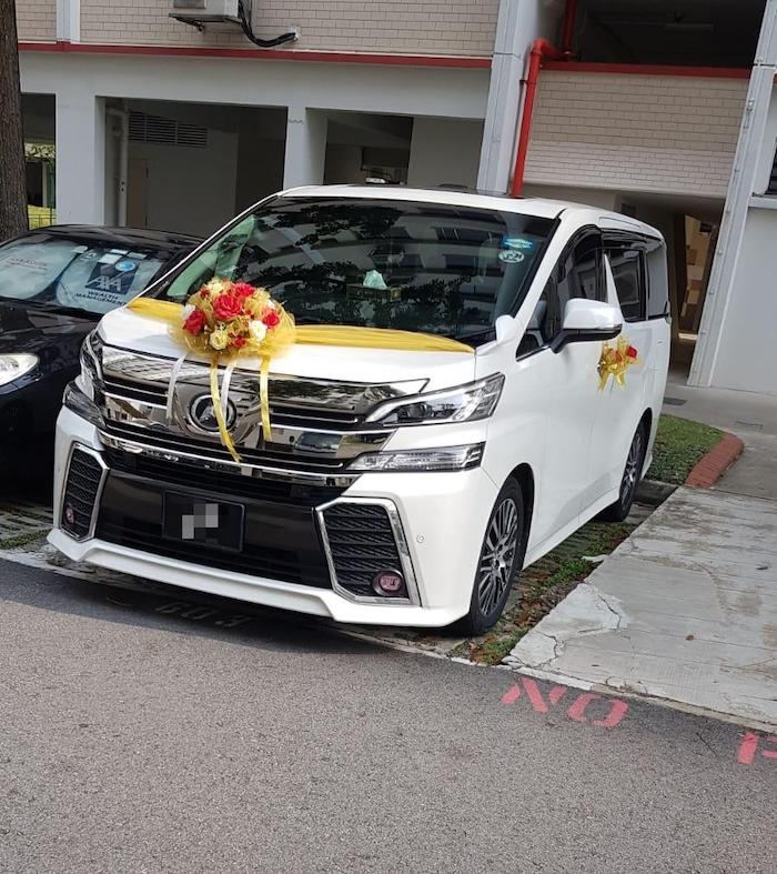 toyota Vellfire wedding car