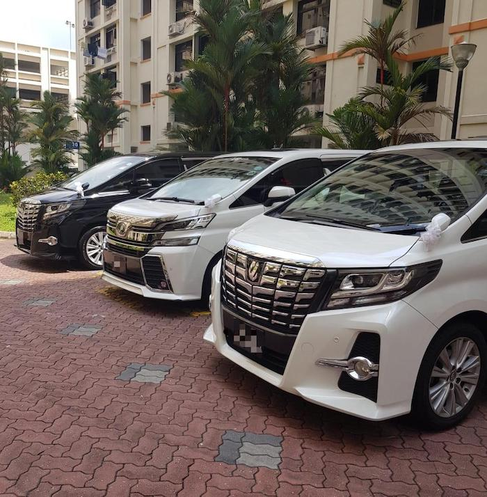 Toyota Vellfire and Alphard wedding car