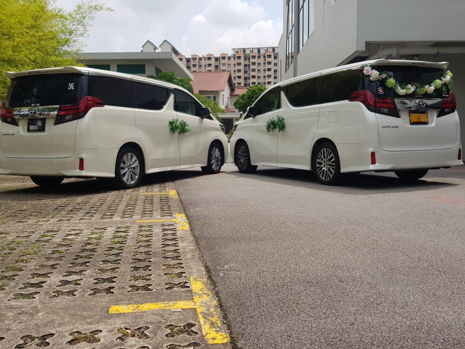 Toyota Alphard wedding car rear