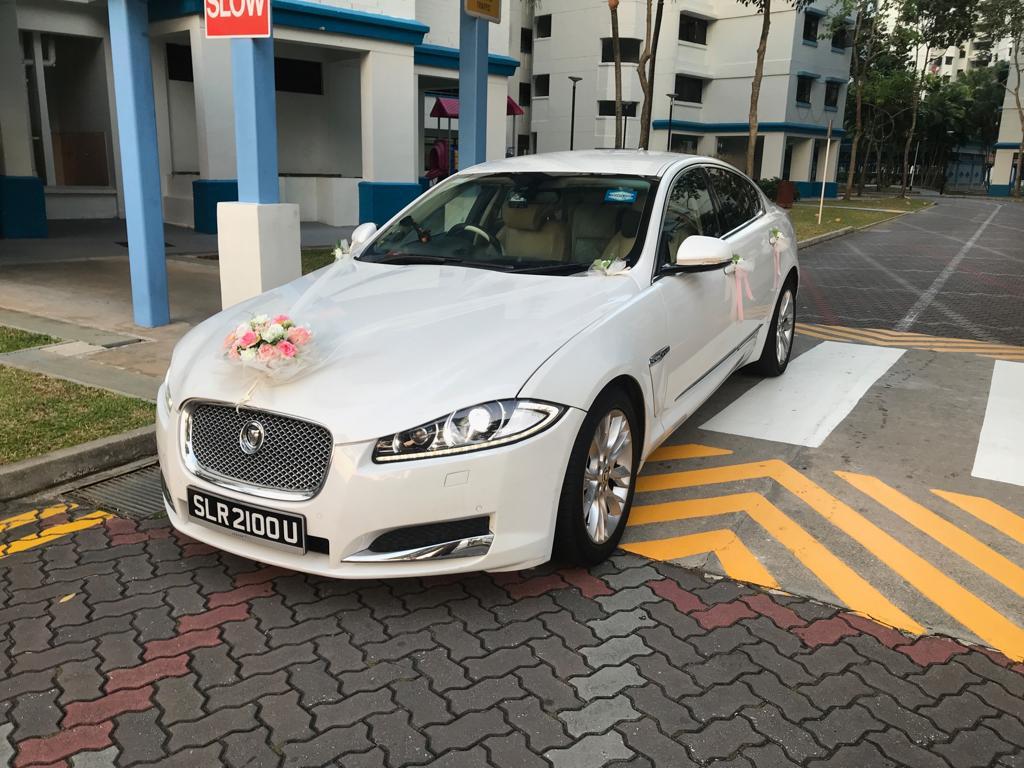 Jaguar XF wedding car