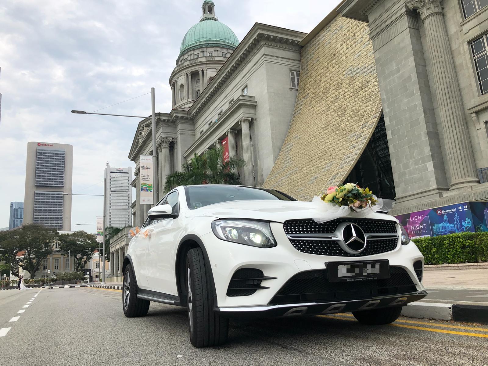 mercedes GLC bridal car