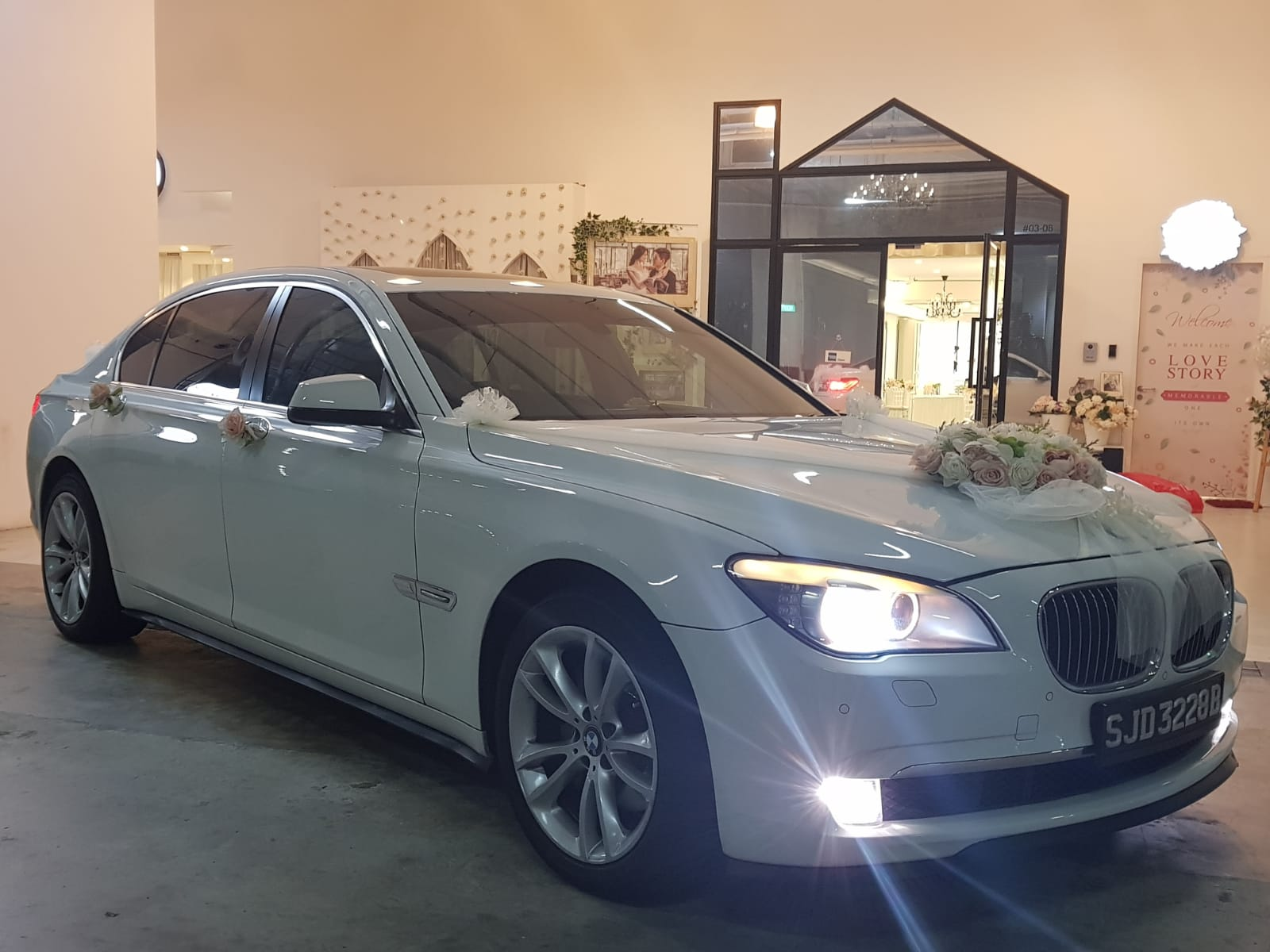 BMW 7 series wedding car