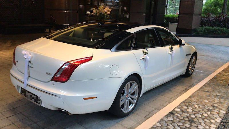 Jaguar XJL wedding car rear