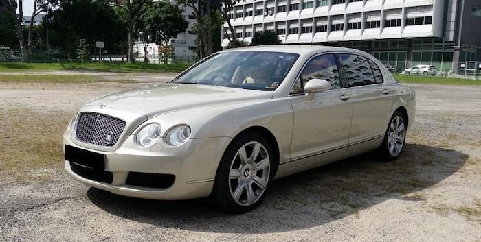 Bentley continental wedding car