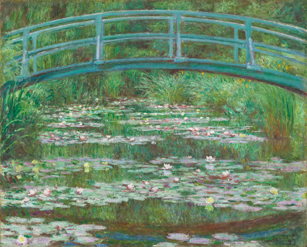 Claude Monet, The Japanese Footbridge, 1899, National Gallery of Art Washington