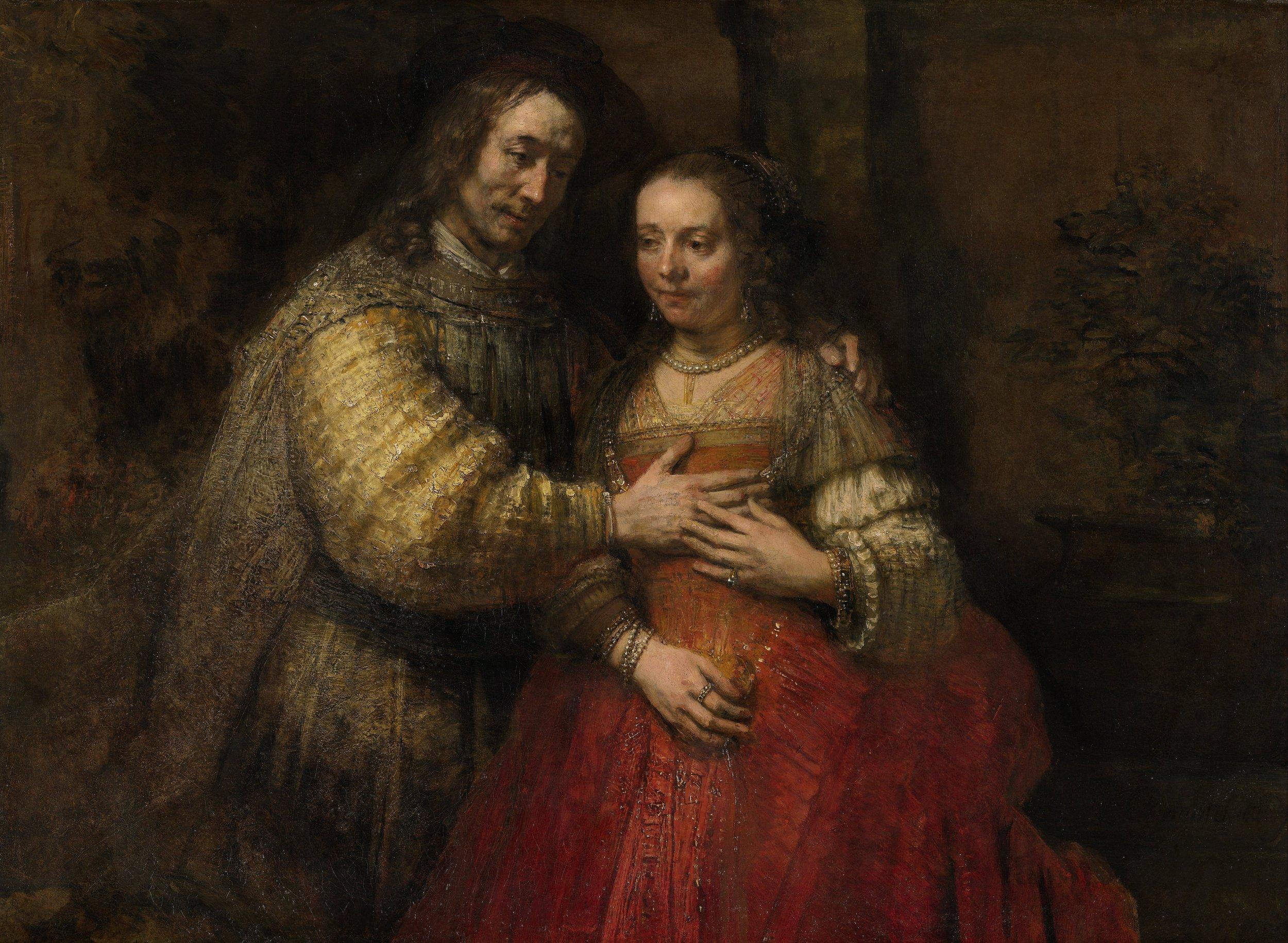 The Jewish Bride , Rembrandt, c.1665 – c. 1669, Rijksmuseum, Amsterdam