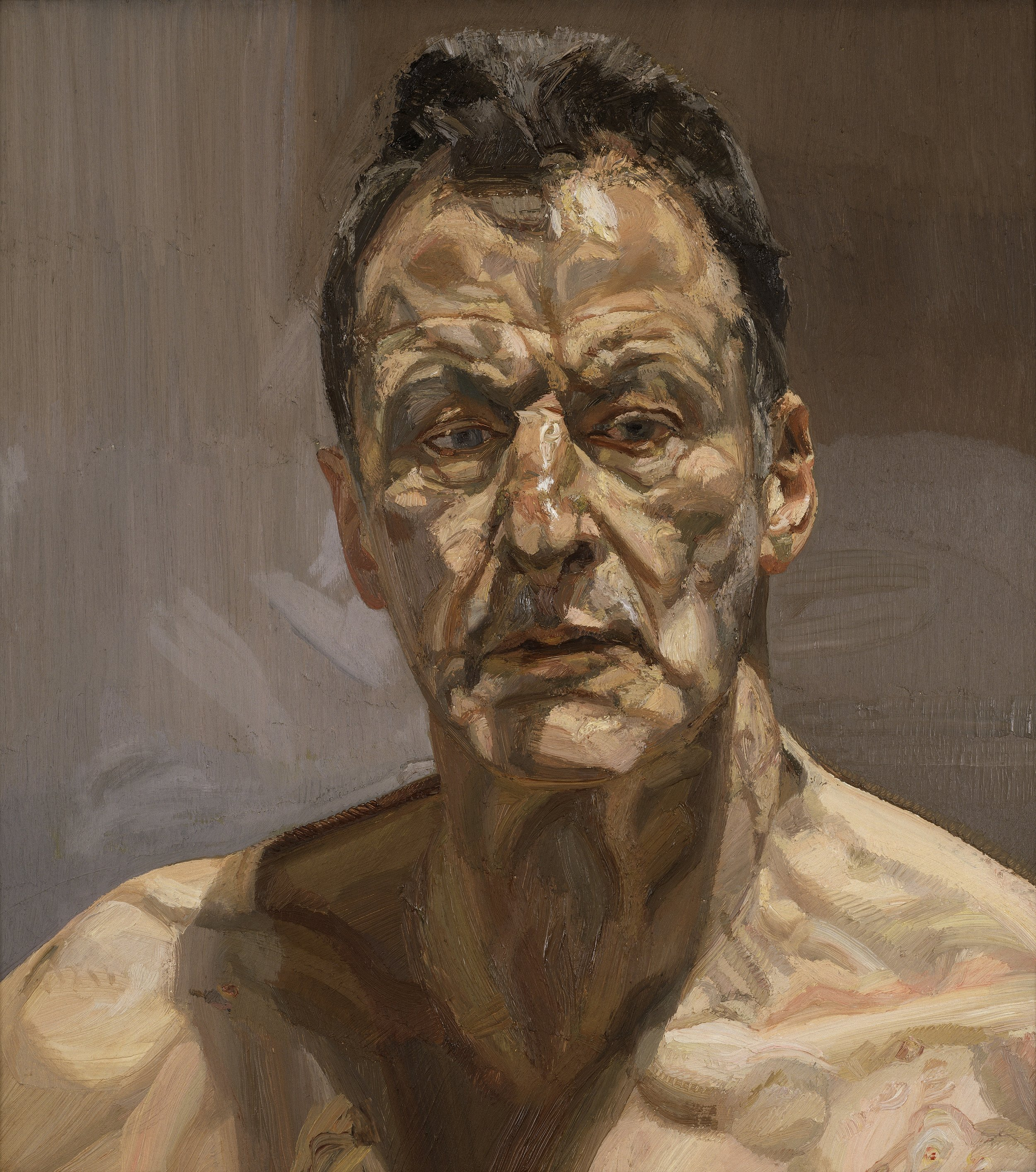 Reflection (Self-portrait),  Lucian Freud, 1985, Private Collection, on loan to The Irish Museum of Modern Art