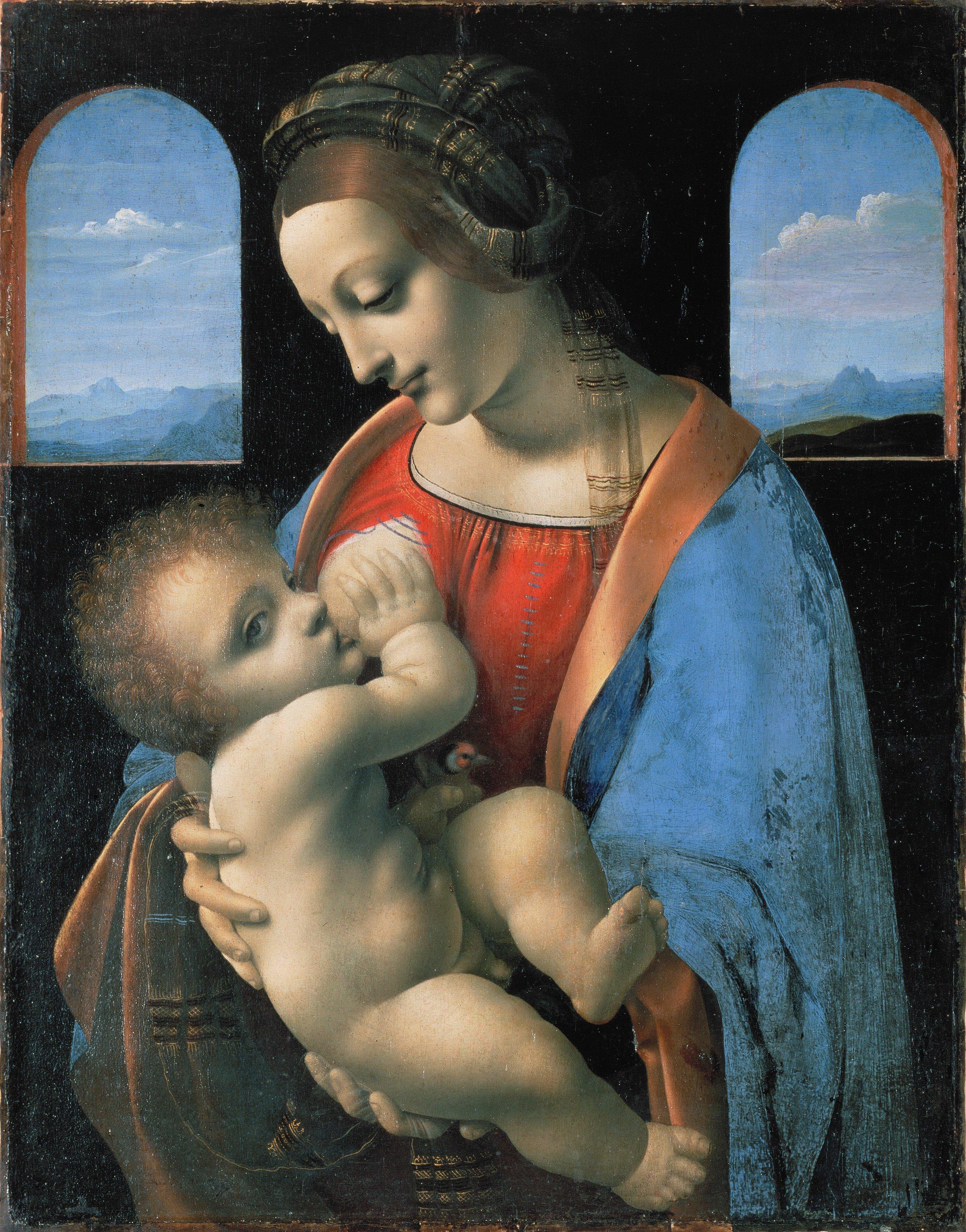 Madonna Litta, Leonardo da Vinci, c. 1490