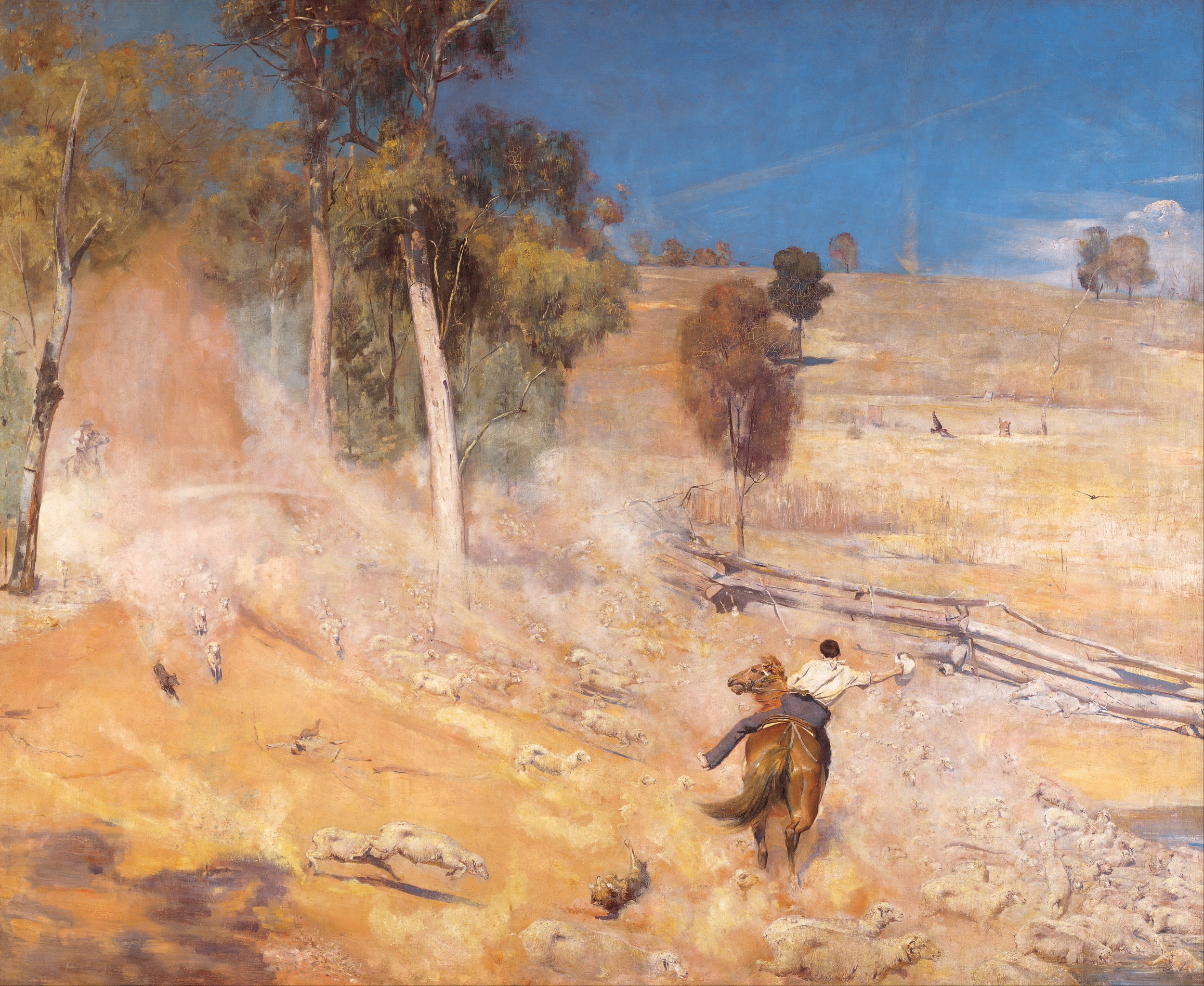 A Break Away!, Tom Roberts, 1891. Photograph: © Art Gallery of South Australia, Adelaide