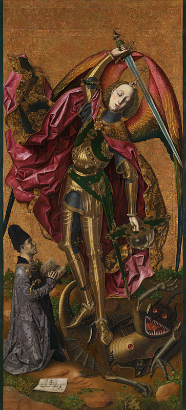 Saint Michael Triumphs over the Devil, Bartolomé Bermejo, 1468, The National Gallery, London