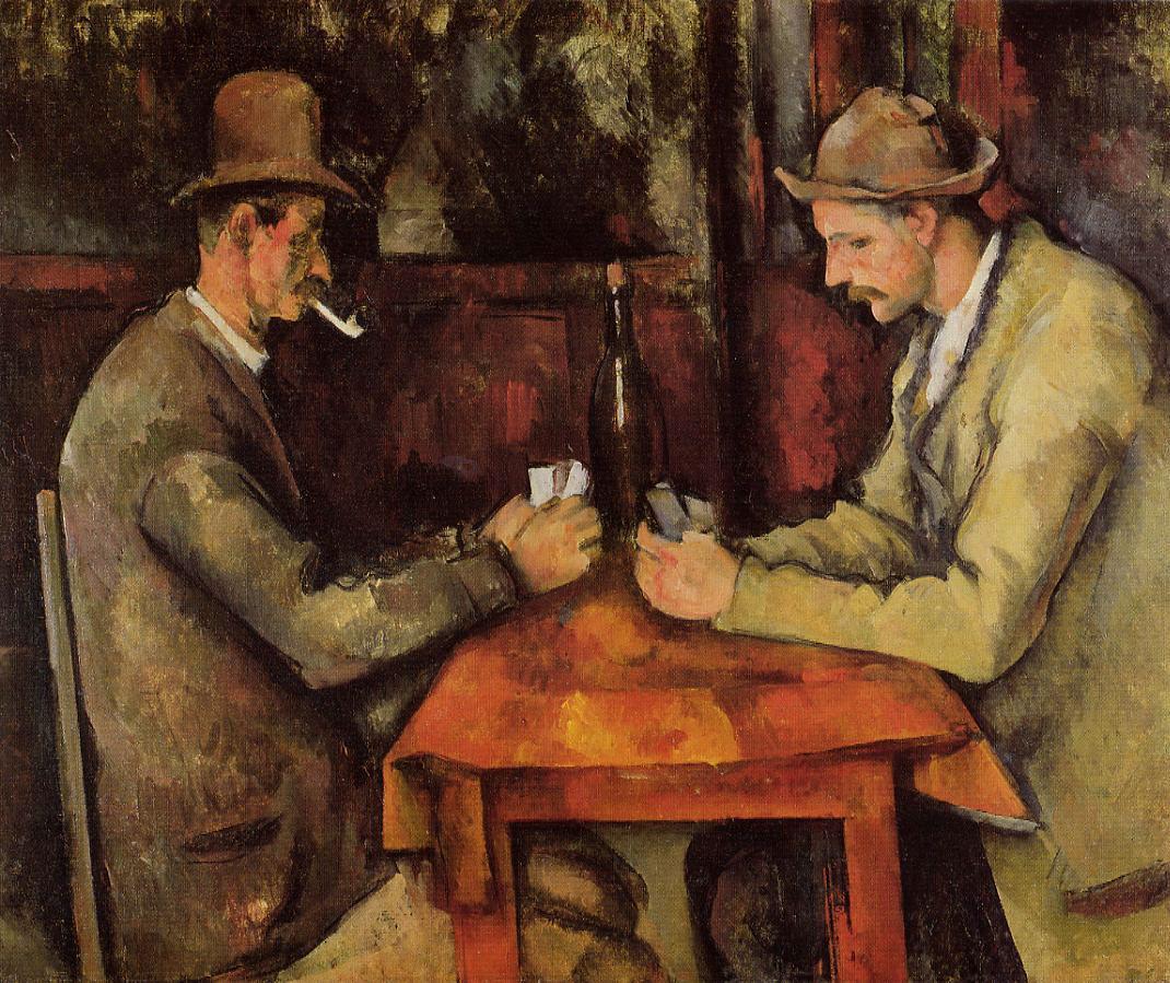 The Card Players,  Paul Cézanne, 1894–95, Musée d'Orsay, Paris