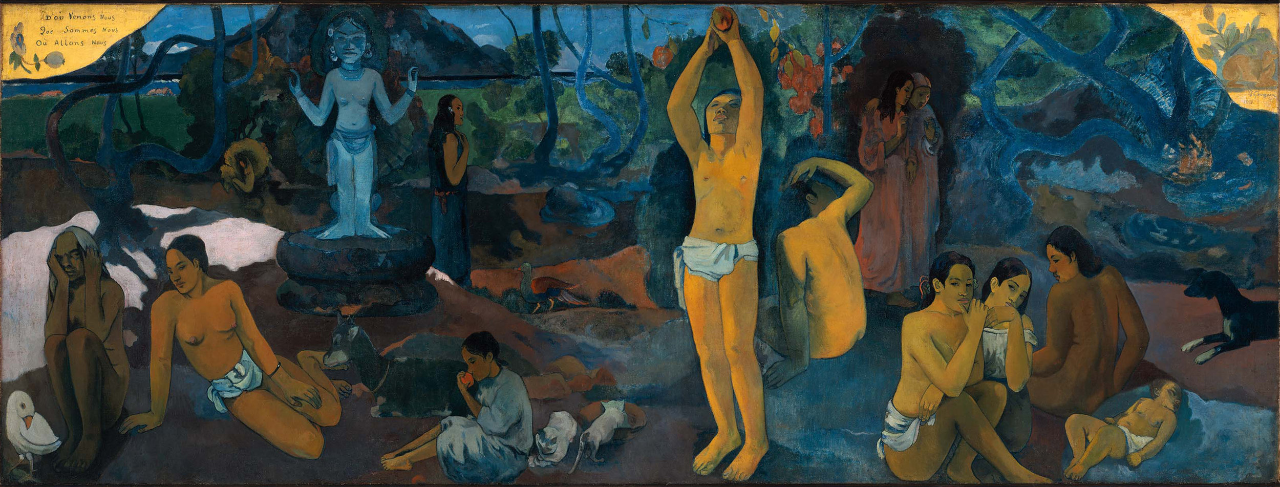 Where do we come from? What are we? Where are we going?,  Paul Gauguin,   1897, Boston, Museum of Fine Arts