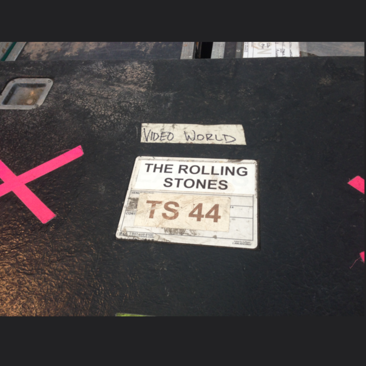 a rolling stones tour sticker