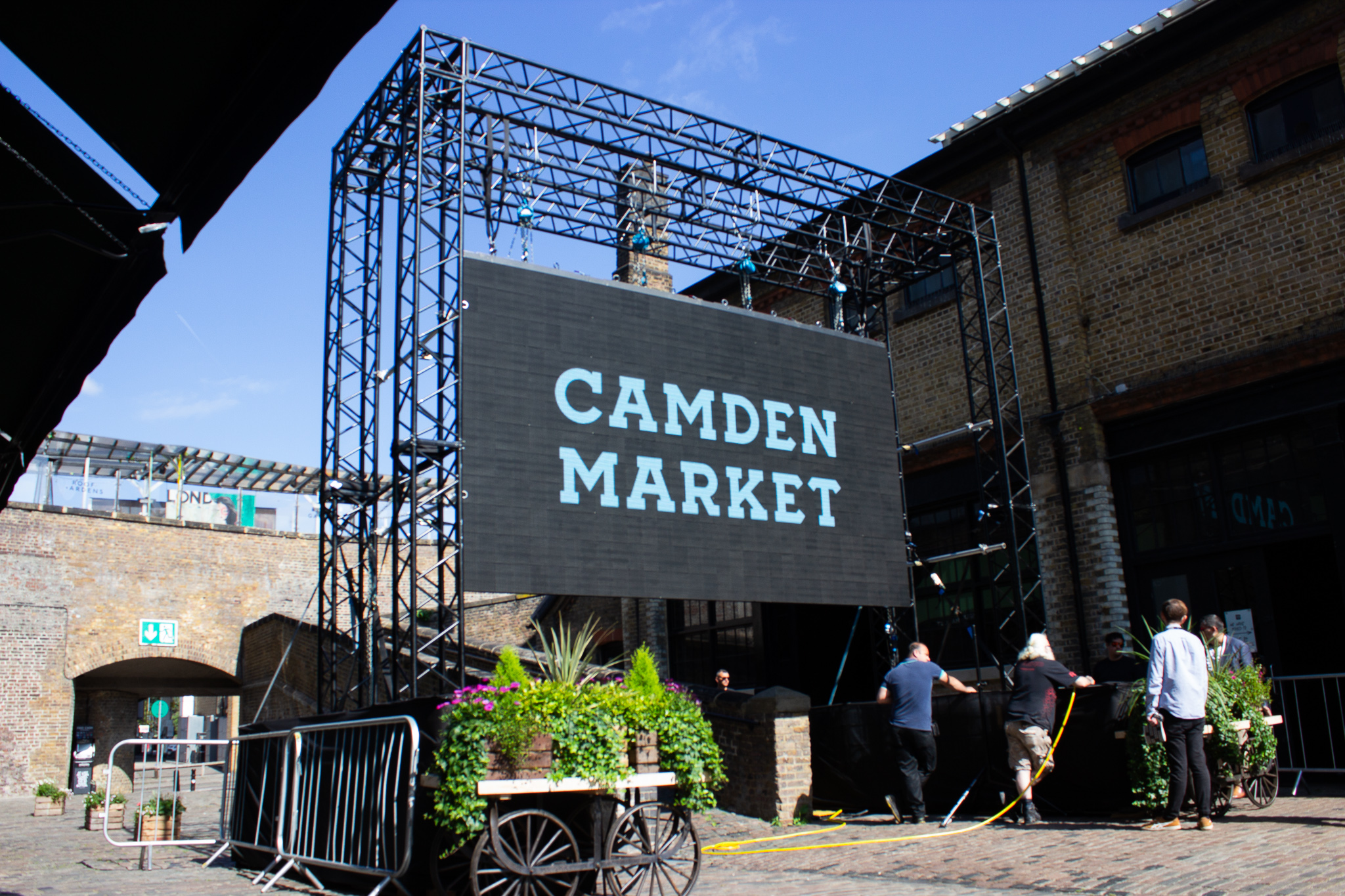 LED Screen In Camden Market