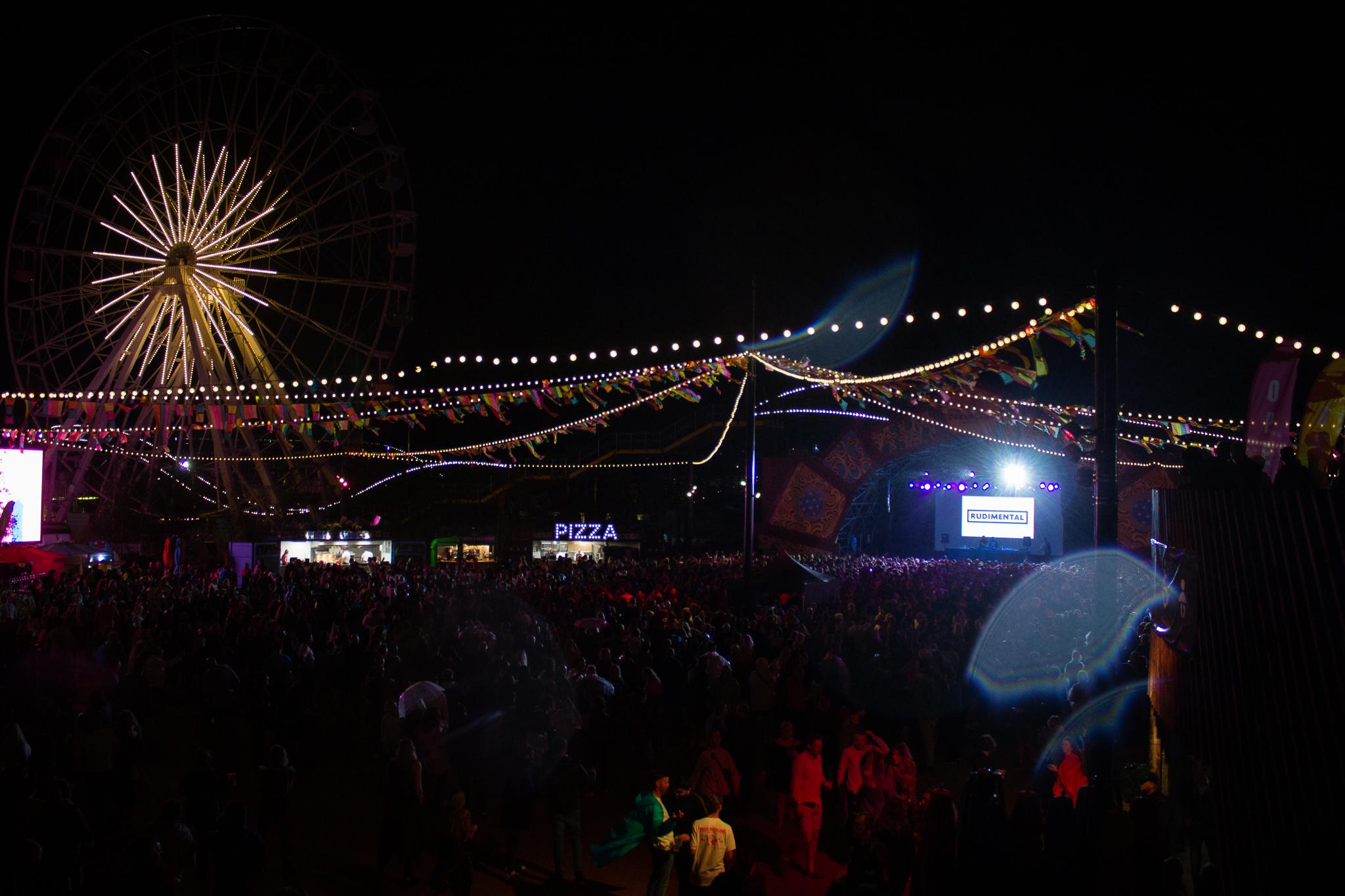 fair ground at night