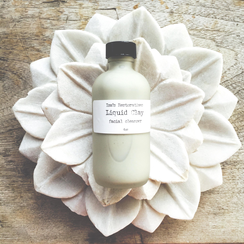 Isas Restoratives Liquid Clay silky facial cleanser.
