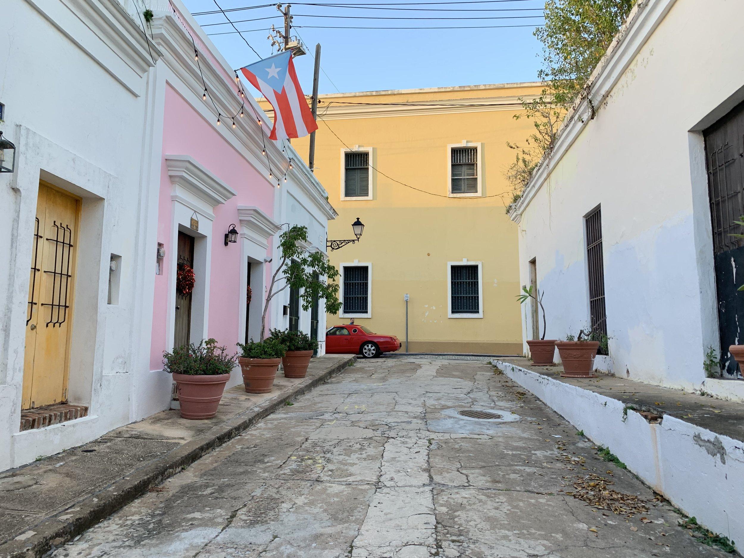 Alleyways of Old San Juan.