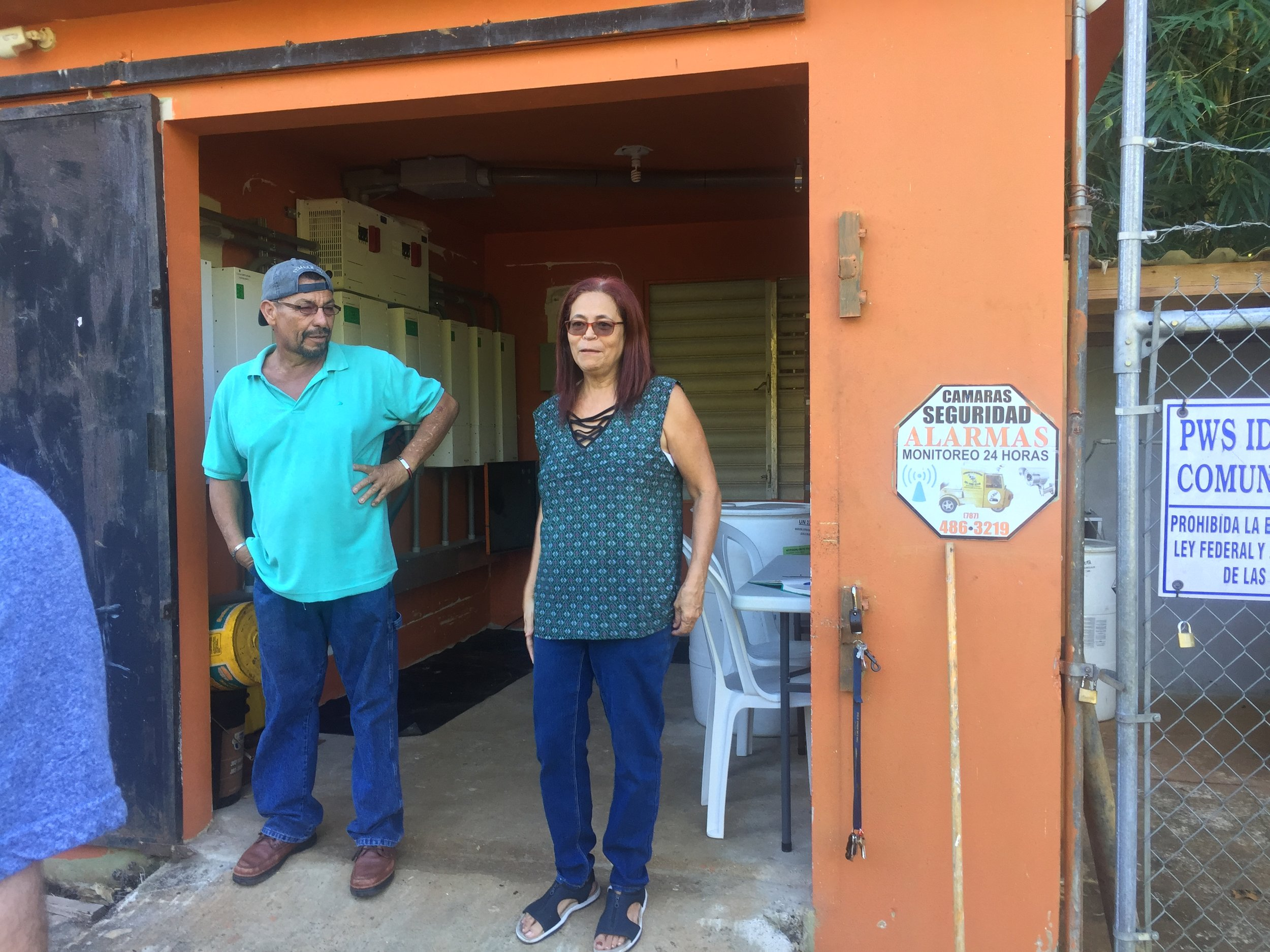 Iris and Cesar Irizarry, leaders of corcovada Communal Aqueduct in Añasco