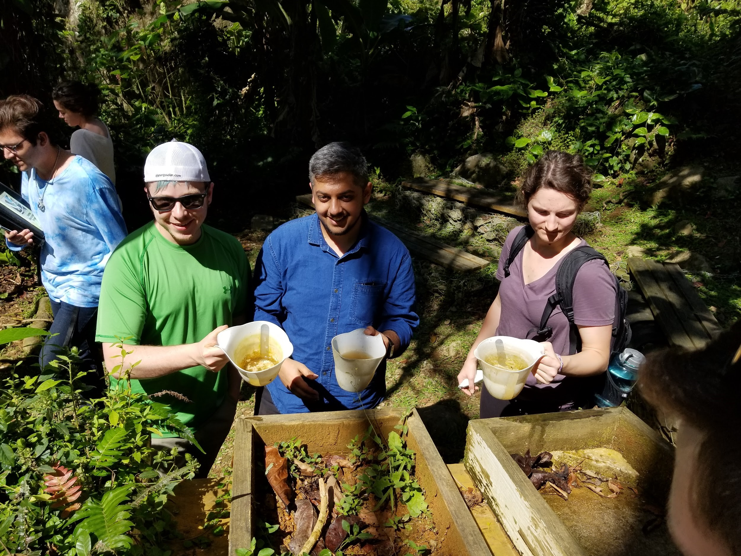 UMN Students learning about Water Run-off, From Left to Right: Garrett Burnham, Rajeev Atha, Carlie Derouin
