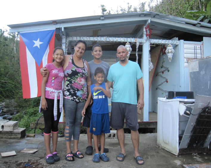 Photo Credit: Comunidad Organizada de San Salvador     Families in San Salvador have rebuilt their own homes, largely without help from philanthropy or government agencies. The Pirucho Power Project will connect 800 homes to a community microgrid in San Salvador, Puerto Rico