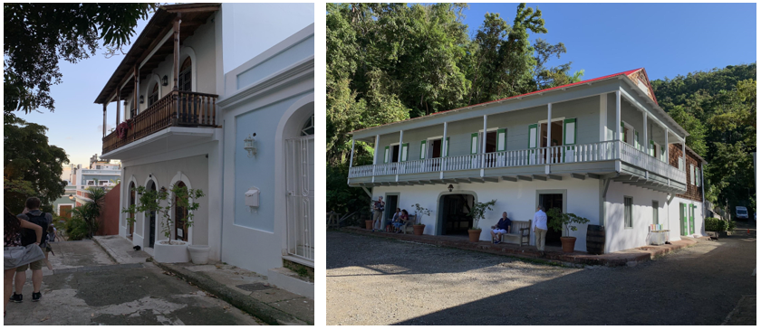 Left: Streets of Old San Juan; Right: Buena Vista Hacienda