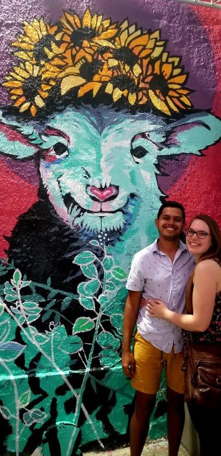 Luis and I at Calle Cerra in Santurce.