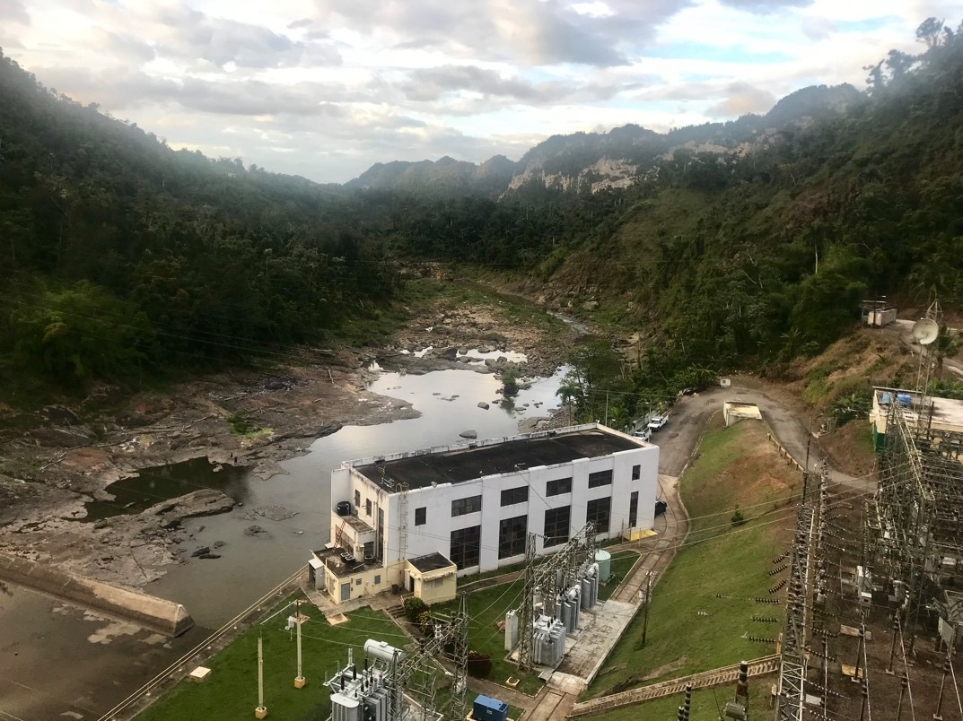 Current hydropower plant in Utuado