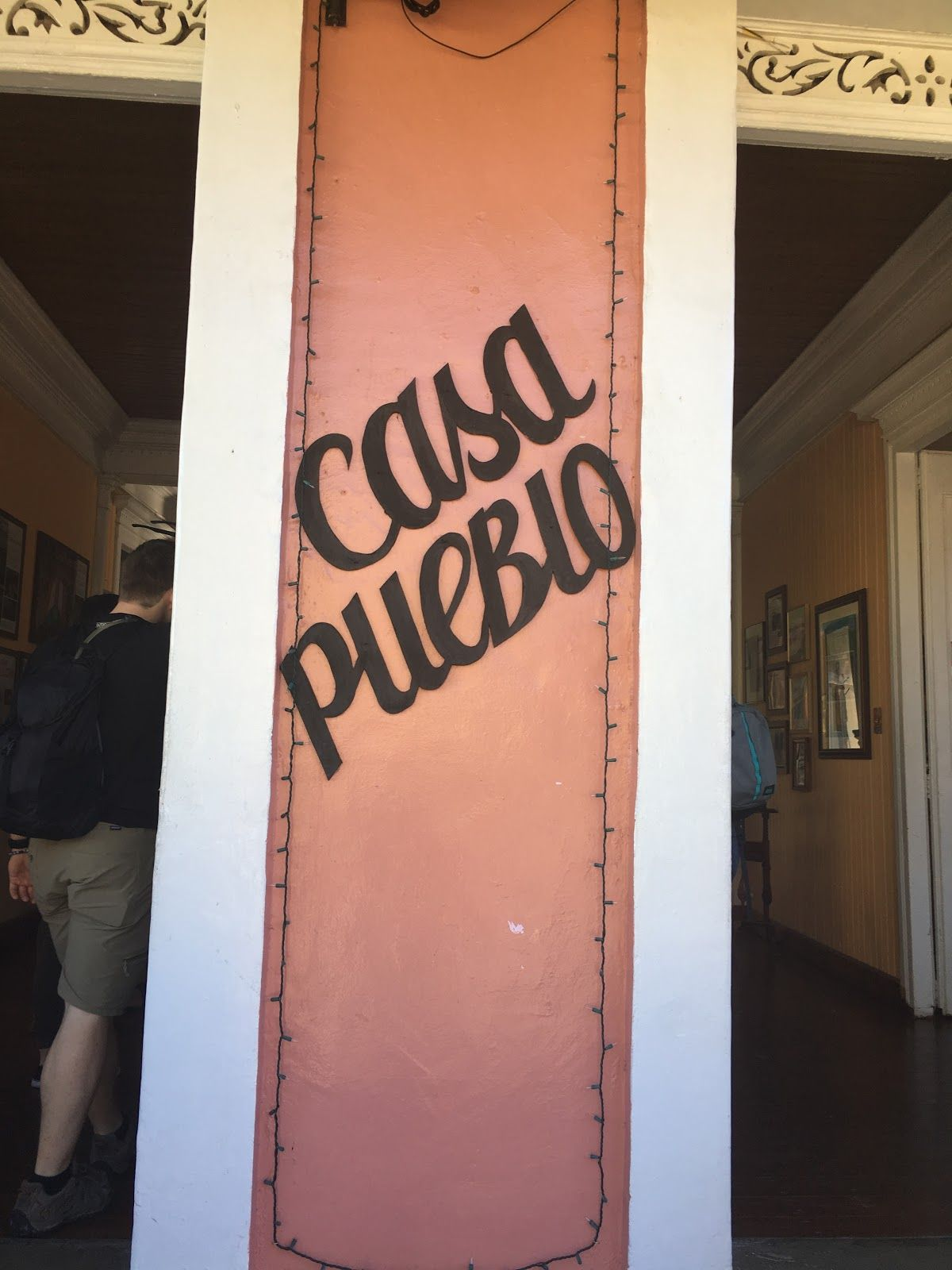 Entrance of Casa Pueblo