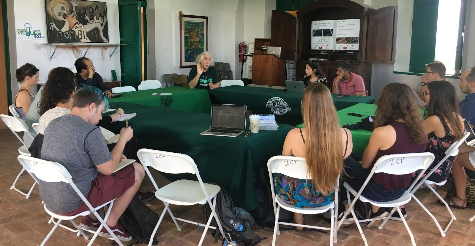 UMN Global Convergence Team in Vieques at the round table workshop headed by Footprint