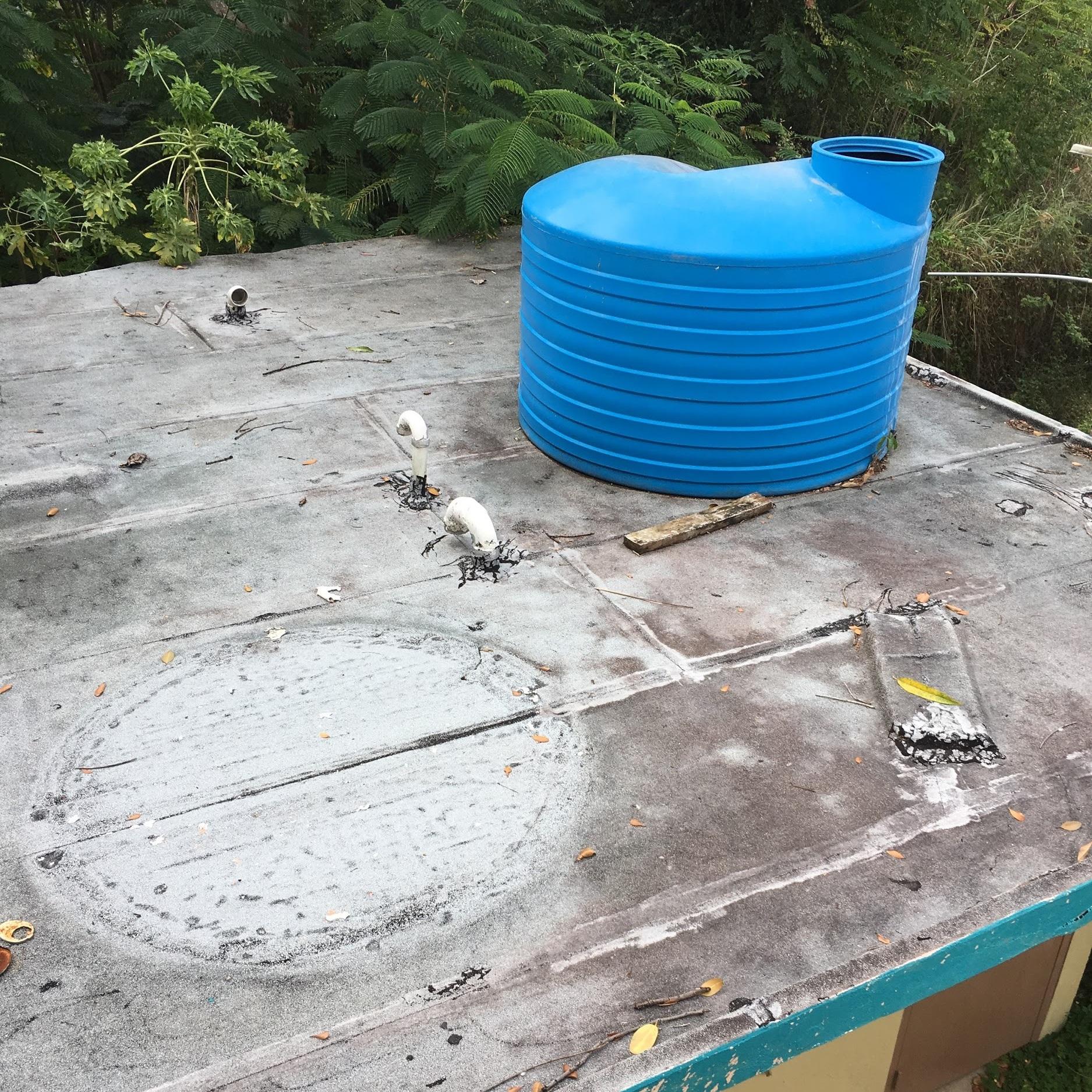 Plastic Rainwater Collection Reservoir at Superhero Foundation