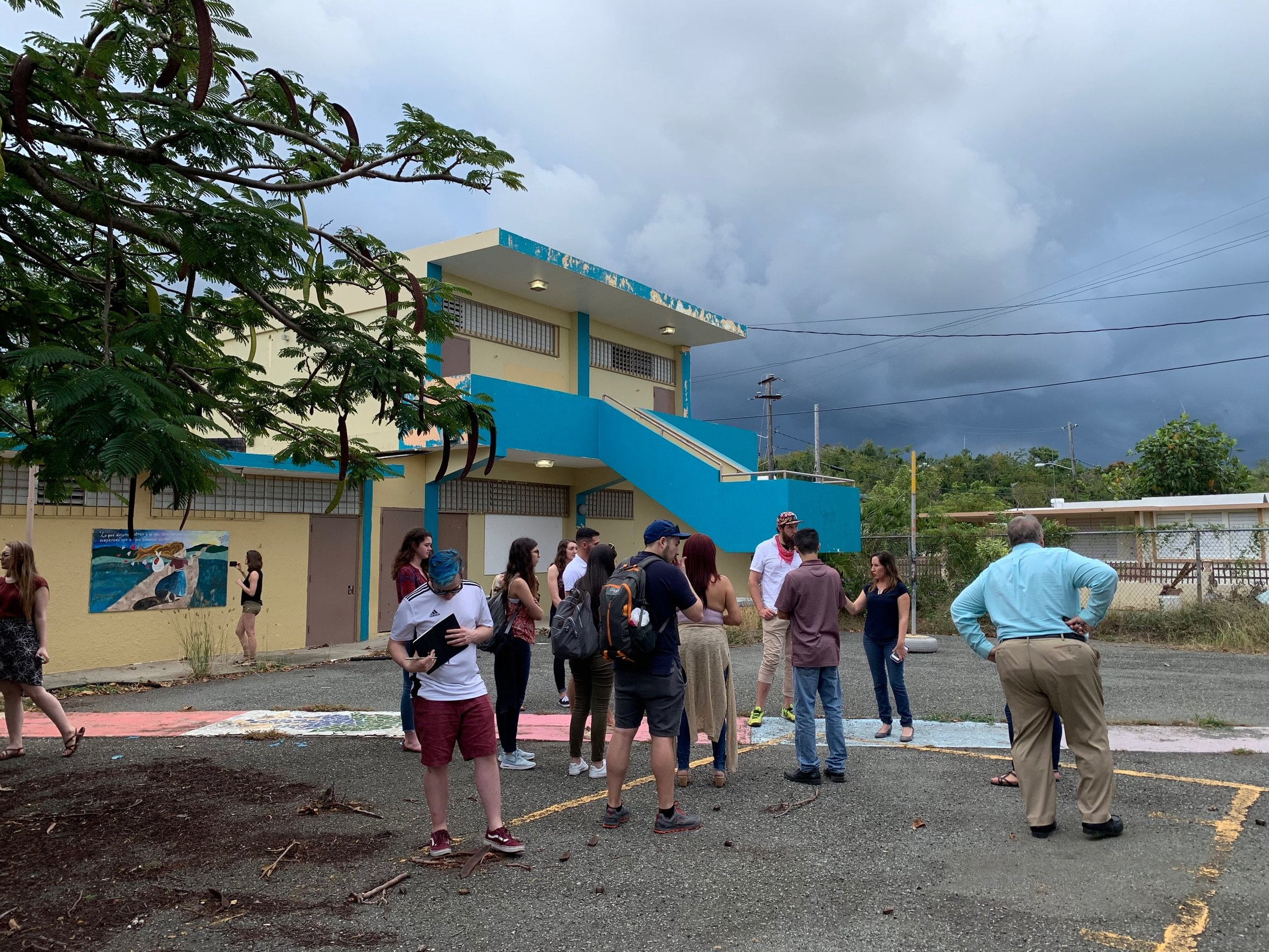THE UMN GLOBAL CONVERGENCE LAB at CLOSED SCHOOL IN THE PLAYUELA SECTOR, AGUADILLA
